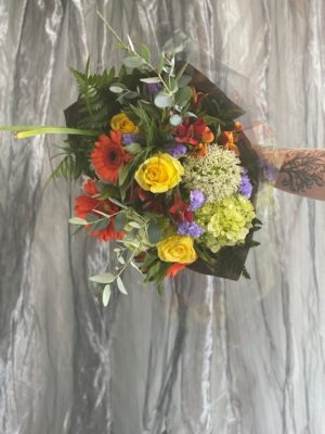 Bright and Cheerful Hand Tied