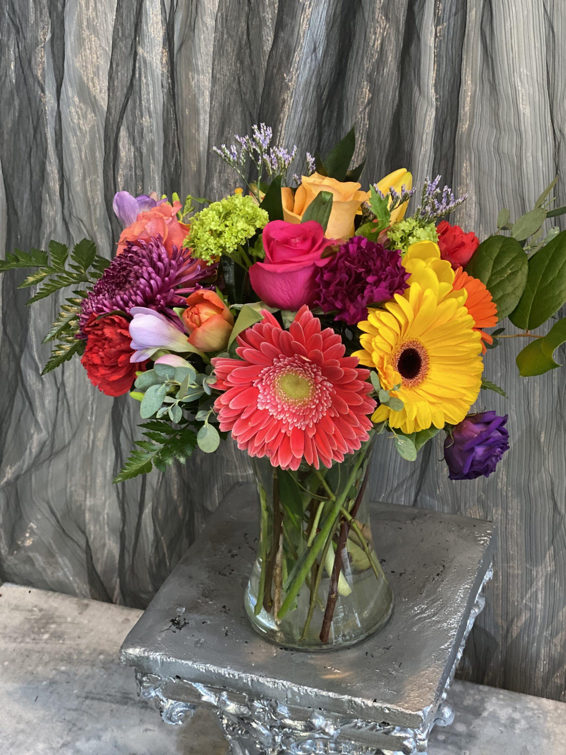 Bright and Cheery Vase Arrangement