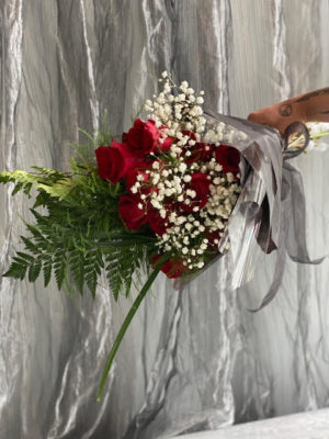 Red Hand-Tied Roses